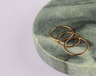 Set of Three Skinny Stacking Rings - Rose Gold Fill | rose gold rings | thin rings | slim rings | wire ring | mother's day  | midi rings