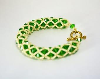 Green Netted Bracelet