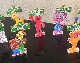Sesame Street Character Place Cards, Sesame Street Favor, Sesame Street inspired, Sesame Street Party, Sesame Street decorations