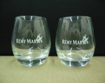 Set of 2 NEW Remy Martin Fine Champagne Cognac Brandy Round Old Fashioned Lowball Rocks Glasses