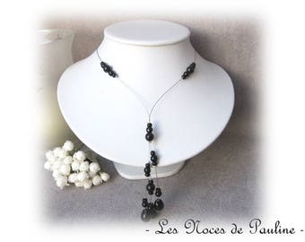 Black necklace with drops Chloe 'Tradition' collection
