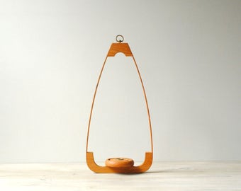 Mid Century Bentwood Hanging Candle Holder