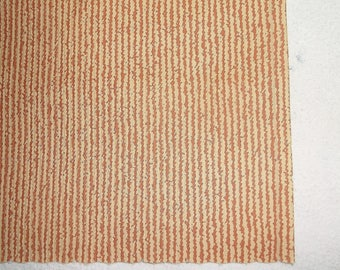 3  vintage Country-Red & Tan Woven Wallpaper Rolls • three full rolls