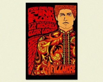 Fillmore Music Festival Print 1967 - Pink Floyd Music Print Rock Poster Festival Poster Vintage Music Fillmore Poster Birthday Gift Idea