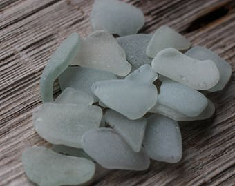 Off White Greenish Sea Glass Bulk Medium Size