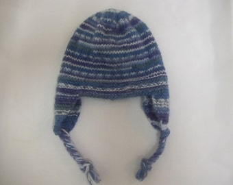 PDF Knitting Pattern earflap trapper hat helmet cap to knit in 6 sizes from birth to 7 years old