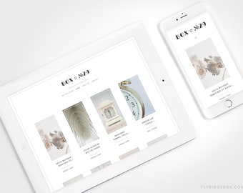 Minimal Blogger Template ⊡ Box No29 ⊳ Pre-made Responsive Blogger Theme with No Sidebar