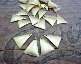 Brass Triangle Stamping Geometric Charm Dangle Made in the USA (8) B7248