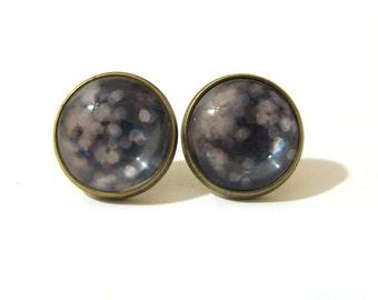 Galaxy Earring, Galaxy Jewelry, Dazzling Designs, Bokeh Art, Spark Modern, Stud Earring, Post Earring, Clip On Earring, Glitter Earrings