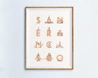 San Francisco Print - San Francisco Art - San Francisco Poster -San Francisco Wall Art