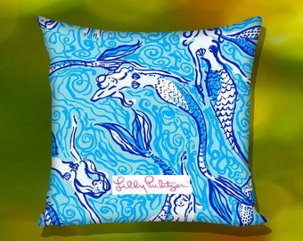 Mermaid Lily Pulitzer Pillow Case