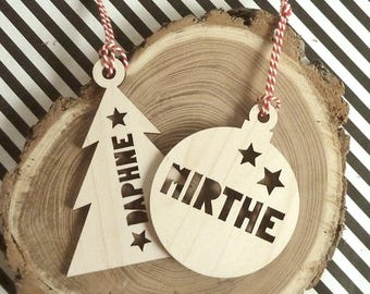 Customized Christmas Baubles Personalised
