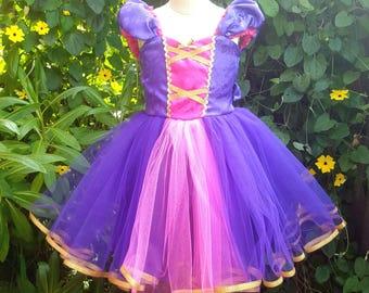 RAPUNZEL dress, Princess Rapunzel, Purple Princess dress, Rapunzel costume, Toddler Princess Dress, Rapunzel Birthday Party, Tangled Dress,