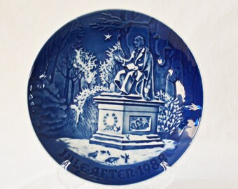 Bing And Grondahl Christmas Plate 1988 In The Kings Garden