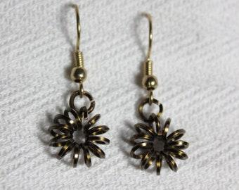 Cute Coils - Spiral Bronze Earrings