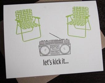 Let es Kick It - 50-Pack Buchdruck gedruckten Kunstkarten