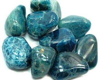 Apatite Blue Tumbled Stone   Tumbled Apatite Stone   Healing Stone   Feng Shui   Metaphysical   Altar Stone   Tumbled Premium Apatite