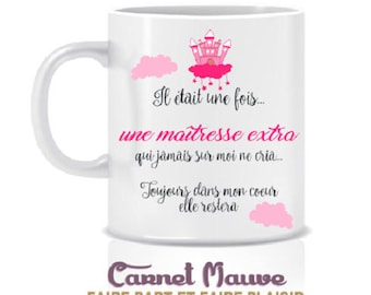 """MUG gift teacher """"once upon a time"""" end of year gift idea"""