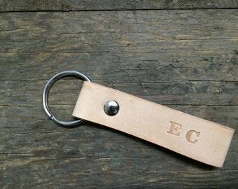 Personalized leather keyfob