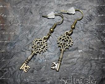 Key earrings, steampunk