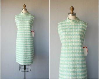 60s Pastel Dress | 1960s Dress | 60s Day Dress | Plaid Dress | Mod 60s Dress | Wool Day Dress | 60s Spring Dress