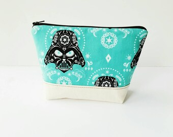 Darth Vader Sugarskull Zippered Pouch - Star Wars Zippered Pouch - Ready to Ship - May the 4th be with you