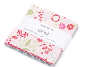 """Aria Charm Pack by Kate Spain for Moda - 5"""" squares - IN STOCK"""