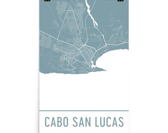 Cabo San Lucas Map, Cabo San Lucas Art, Cabo San Lucas Print, Cabo San Lucas Art Poster, Cabo Wall Art, Map of Cabo San Lucas, Gift, Art
