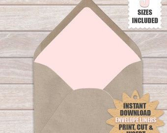 Blush Pink Envelope Liners | Download And Print These Blush Pink Printable Envelope Liners .