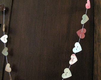 Paper Heart Garland - Antique Colors