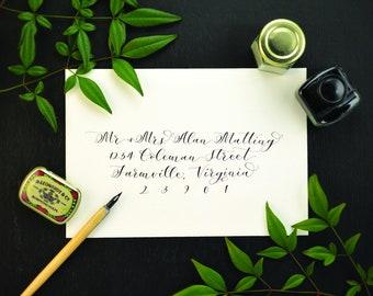 Envelope Calligraphy | Invitation Calligraphy | Envelope Addressing | Invitation Suite Addressing | Wedding Calligraphy | Wedding Envelopes