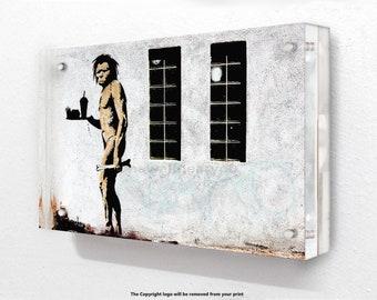 Banksy - Apeman Waiter - Acrylic Block Photo Frame