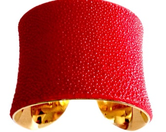 Bright Red Stingray Cuff Bracelet - by UNEARTHED