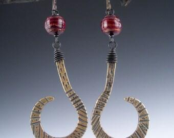 Bronze Venetian Glass Earrings