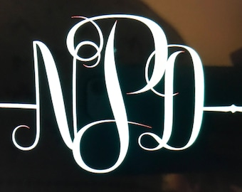 Personalized monogram car decal