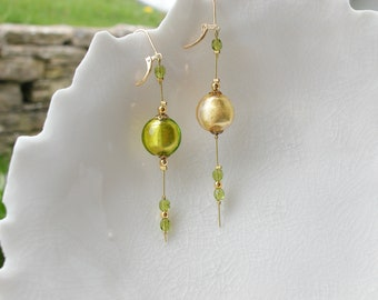 Veenetian Murano Mis-Matched Glass Earrings