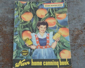 Kerr Home Canning Book, Vintage Canning Recipe Booklet, Kerr Advertising, Great Kitchen Advertisement, Kitchen Collectible, Farmhouse Style