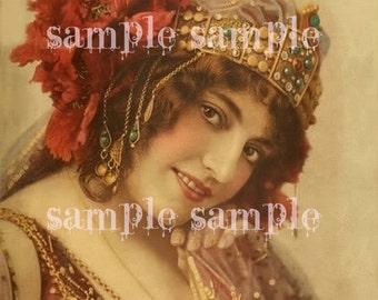 INSTANT Digital Download Scan Collage Sheet Antique Print French Postcard Antique Sheet Music Art Deco Paper Art Supplies