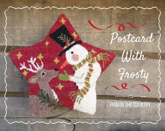 Postcard With Frosty Punch Needle Pattern