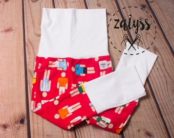 Zaloones pattern players in Soccer red and blue - pants that moved to the rhythm of the child by ZalyssCreation