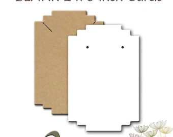 BLANK 2 x 3 inch Cards, Earring Cards, Necklace Cards, Display Cards, Earring Holders, Necklace Holders