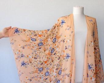 Boho kimono cardigan, swimsuit coverups, floral beachwear, beach cover up, plus size kimono, mothers day gift for her, bohemian kimono