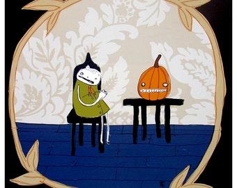 Me and the Jack-O-Lantern - PRINT