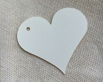 White Heart Gift Tags, Wedding Gift Tags, Holiday Gift Tags