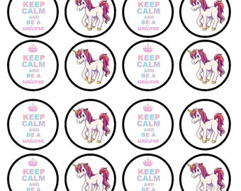 Unicorns Are Real Edible Wafer Rice Paper Cake Cupcake Toppers x 24 PRECUT
