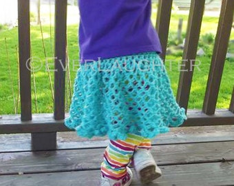 CROCHET PATTERN - Oh So Sweet Skirt - 2 Sizes Included (Baby 3-18 months and Child 2-6 years)