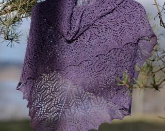 PDF knitting pattern, Knit shawl pattern, Williamina shawl pattern, Lacy shawl pattern, Lace shawl pattern