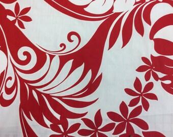 Retro style Hawaiian Print  Poly Cotton (Yardage Available)
