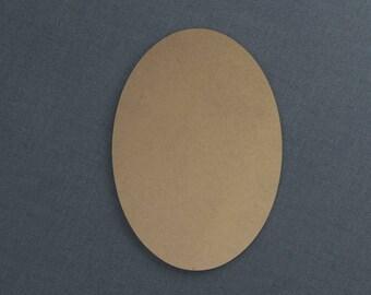 Basic Shapes, Oval, Wood Cutout, Unfinished Sign
