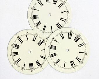 Vintage Clock Face Roman Numeral Enamel Farmhouse Antique